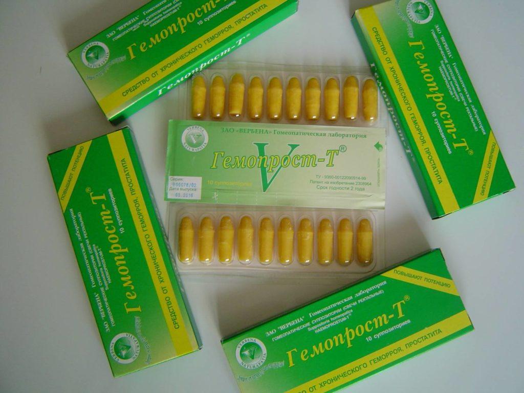 В препарате Гемопрост Т, помимо пчелиного клея и жировой фракции (облепиховое масло), содержится эссенция зверобоя, туевое масло, тамбуканская грязь и эссенция каштана. Кроме того, в составе заявлено 400 видов трав.