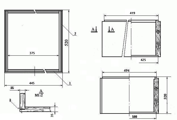 Размеры заставной доски в улей дадан